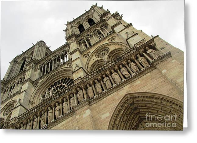 Notre Dame On A Rainy Day Greeting Card