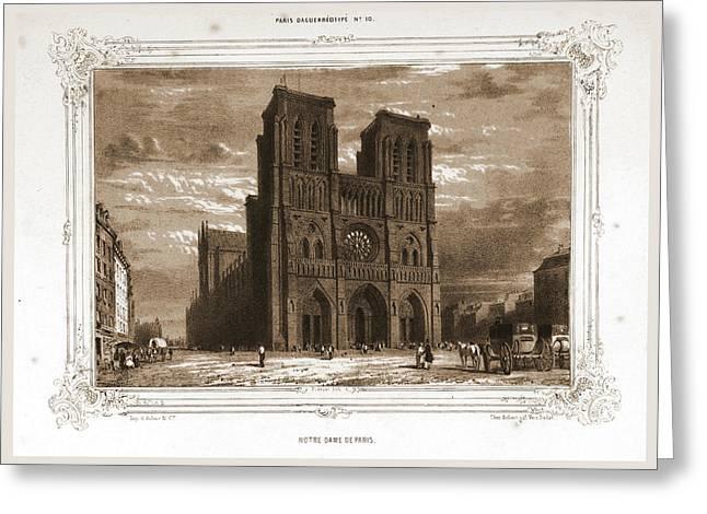 Notre Dame, Paris And Surroundings, Daguerreotype Greeting Card