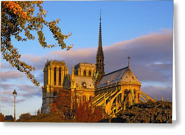 Notre Dame Sunrise Greeting Card