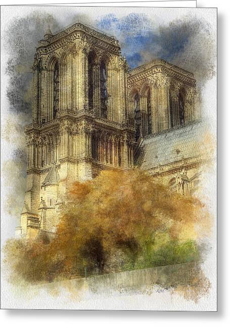 Notre Dame Twin Towers Greeting Card