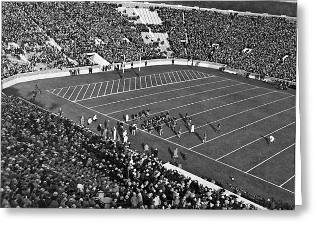 Notre Dame-usc Football Game Greeting Card by Underwood Archives