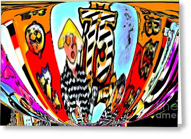 Notre Debut Abstract Greeting Card by Marian Bell