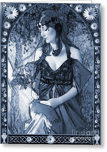 Nouveau In C Greeting Card by John Edwards