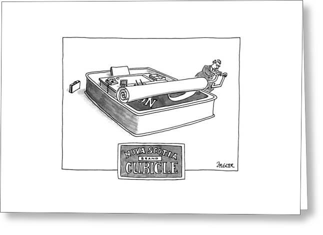 Nova Scotia Brand Cubicle Greeting Card by Jack Ziegler