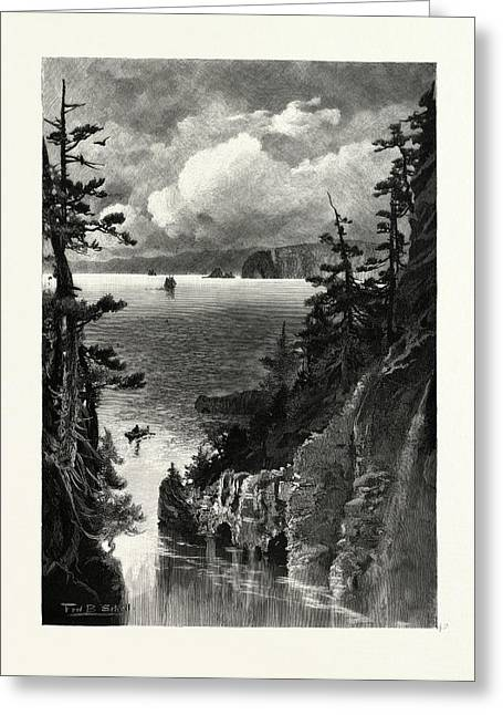 Nova Scotia, Cape Split, From Baxters Harbour Greeting Card by Canadian School