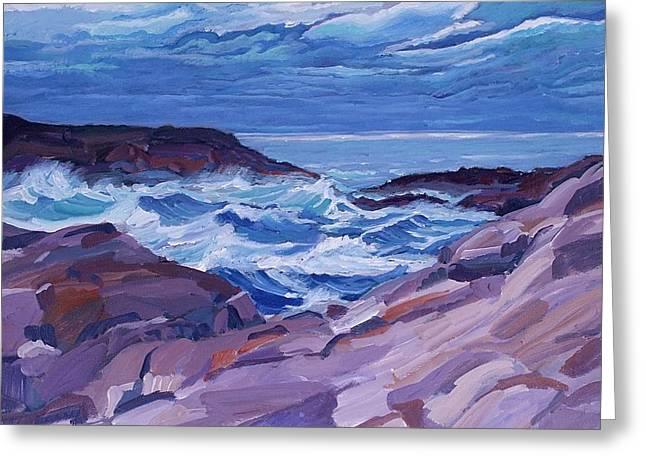 Nova Scotia Coast Greeting Card by Janet Ashworth