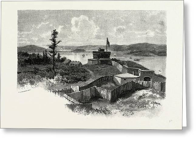Nova Scotia, Halifax From York Redoubt, Canada Greeting Card by Canadian School