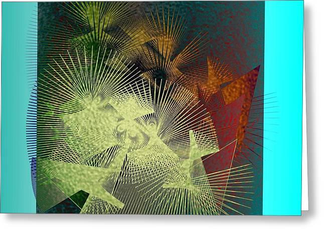 Greeting Card featuring the digital art November by Iris Gelbart
