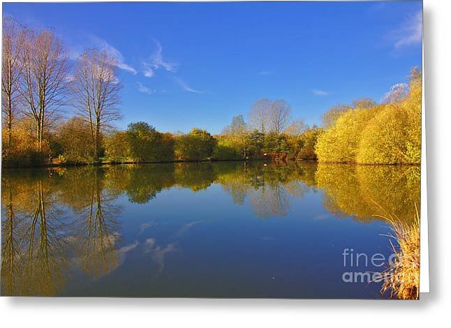 Greeting Card featuring the photograph November Lake 1 by Jeremy Hayden