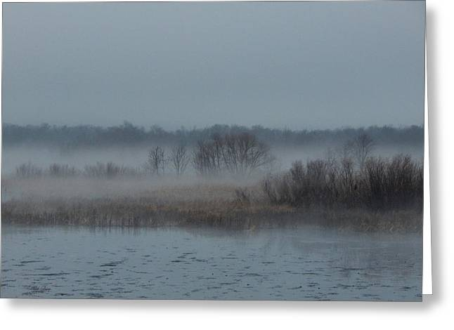 November Mist Greeting Card