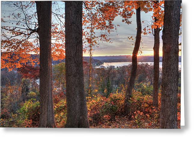 November Morning At The Lake Greeting Card