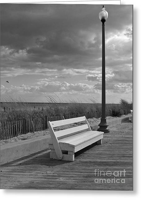 November On The Boardwalk Greeting Card