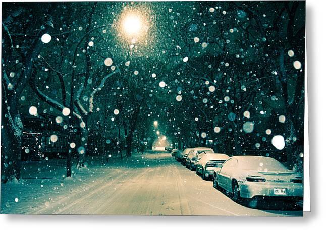 November Snow Greeting Card by Bryan Scott