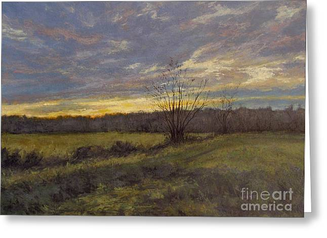 November Sunset Greeting Card by Gregory Arnett