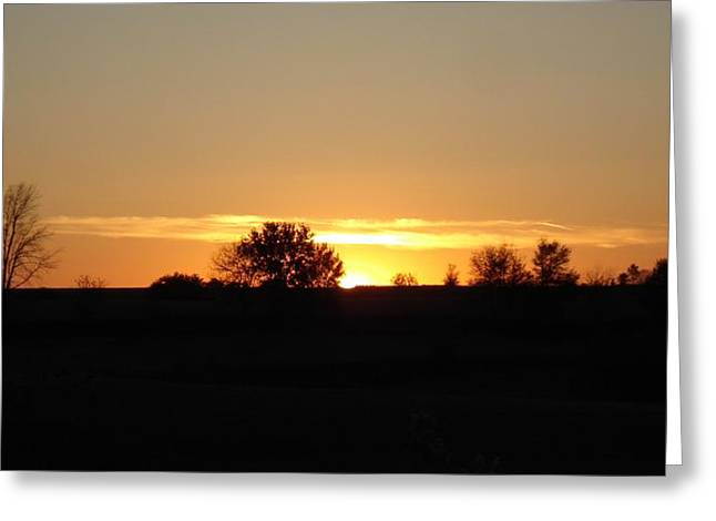 November Sunset  Greeting Card by J L Zarek