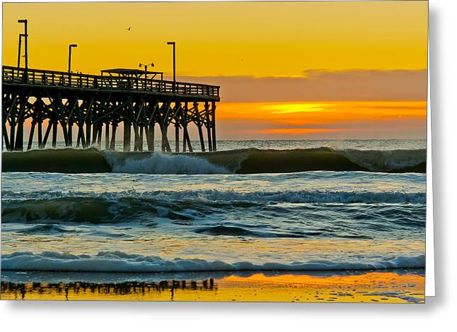 November Surf Greeting Card