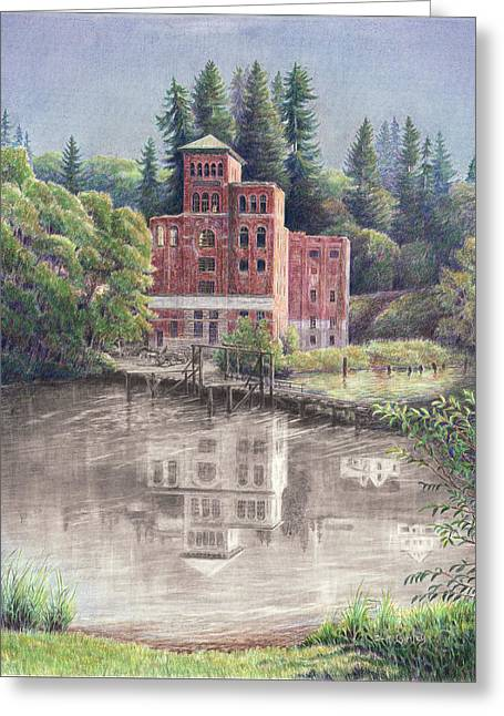 Now And Then - Old Olympia Brewery Greeting Card