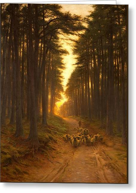 Now Came Still Evening On, Circa 1905 Greeting Card by Joseph Farquharson