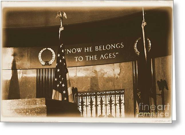Greeting Card featuring the photograph Now He Belongs To The Ages by Luther Fine Art