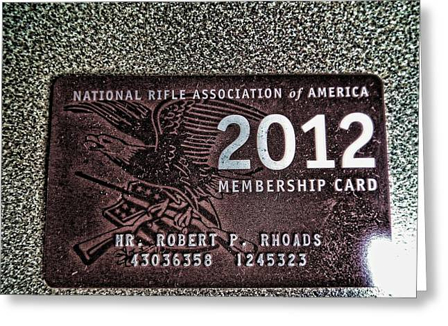 Greeting Card featuring the digital art 'nra' by Robert Rhoads