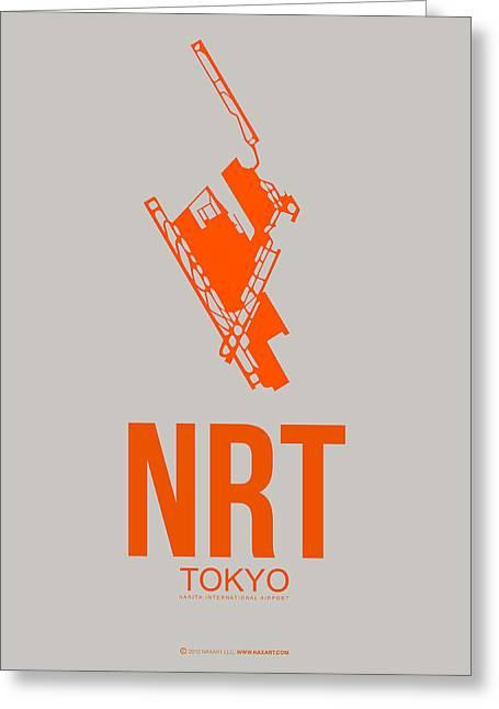 Nrt Tokyo Airport 1 Greeting Card by Naxart Studio