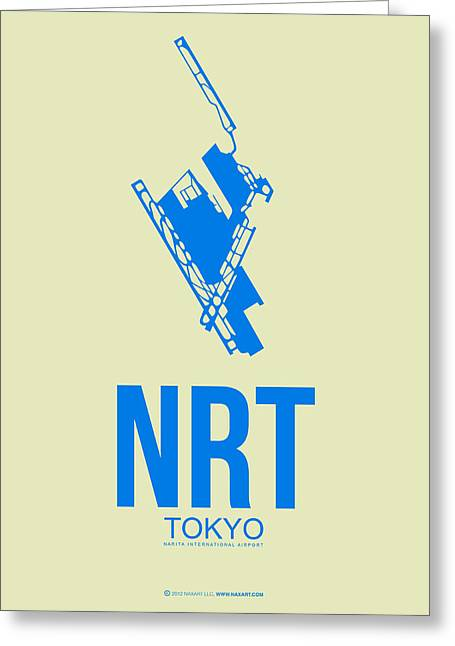 Nrt Tokyo Airport Poster 3 Greeting Card by Naxart Studio