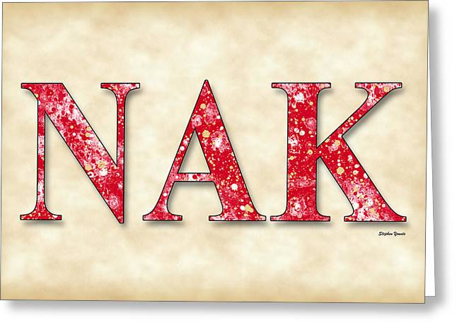 Nu Alpha Kappa - Parchment Greeting Card by Stephen Younts