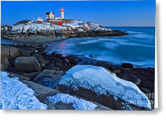 Nubble Blizzard Greeting Card by Katherine Gendreau