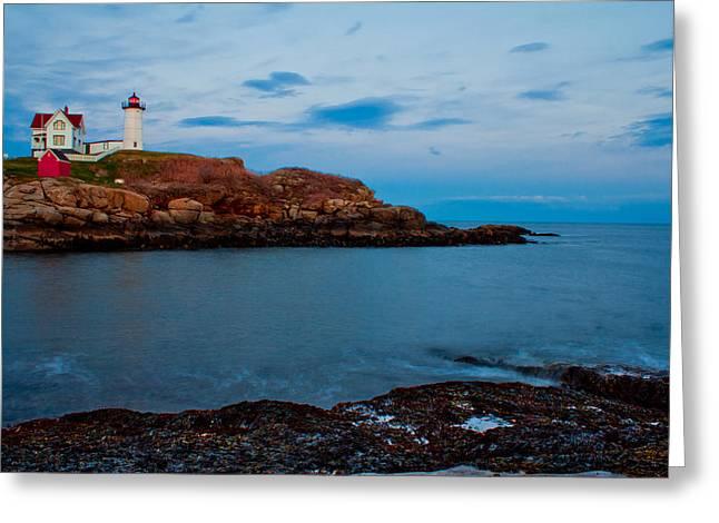 Nubble Light At Cape Neddick Maine Greeting Card by John McGraw