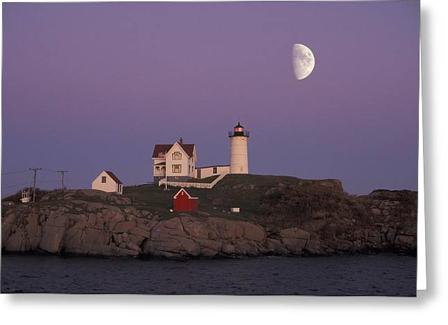 Nubble Light Greeting Card by Christian Heeb