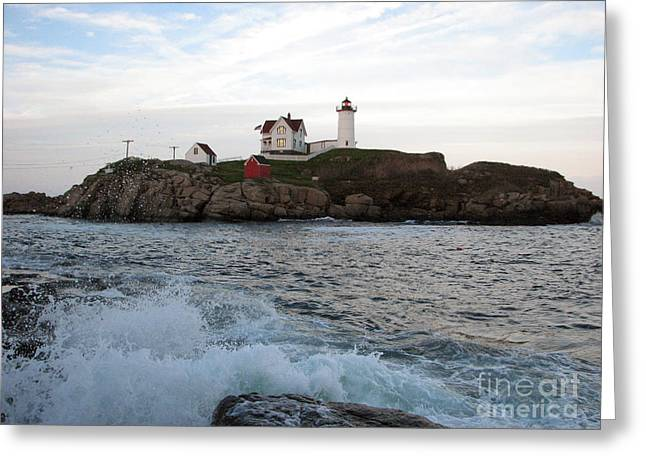Nubble Light Landscape Greeting Card