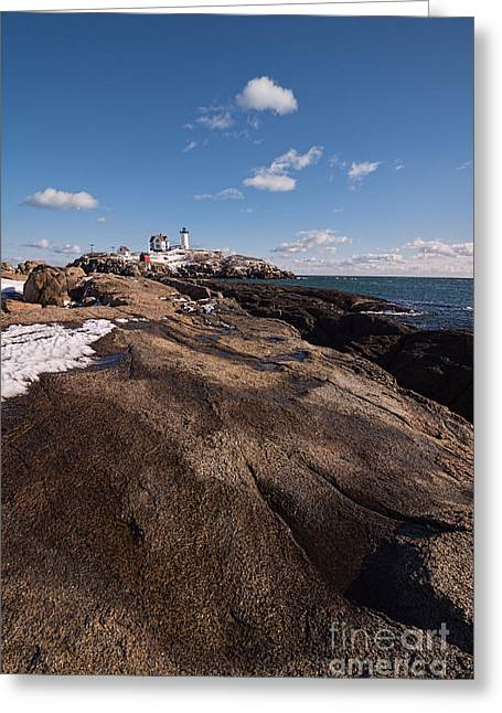 Nubble Light Portrait Greeting Card