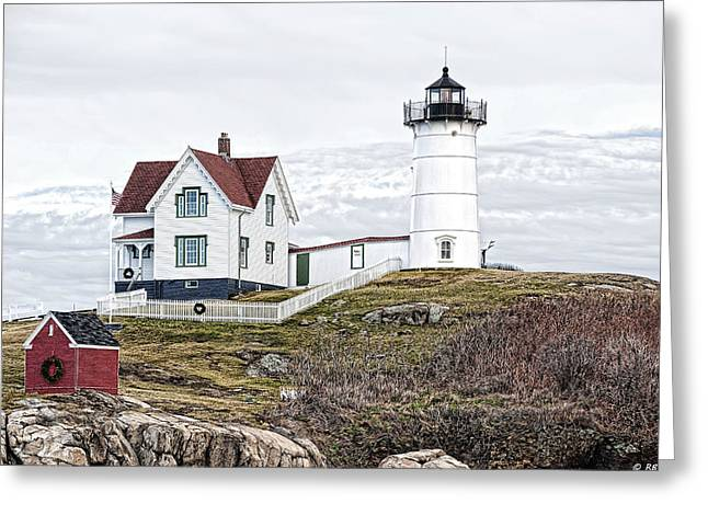 Greeting Card featuring the photograph Nubble Light by Richard Bean