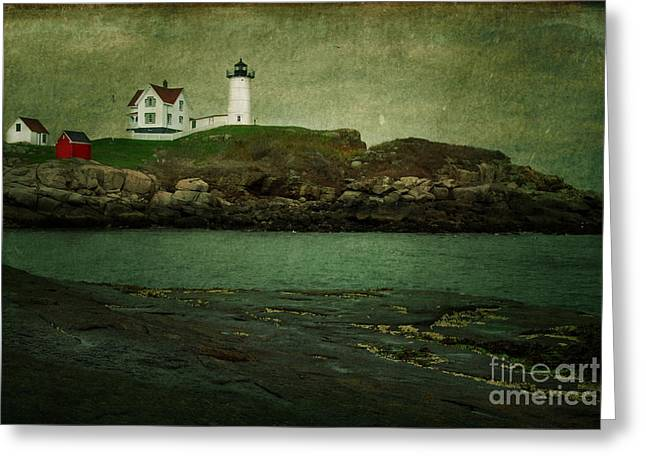 Nubble Lighthouse Maine Usa Greeting Card by Sabine Jacobs