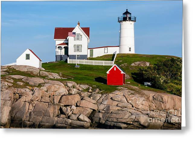 Nubble Lighthouse York Maine Greeting Card by Dawna  Moore Photography