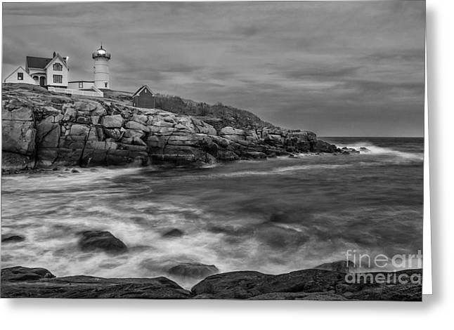 Nubble Storm Greeting Card by Scott Thorp