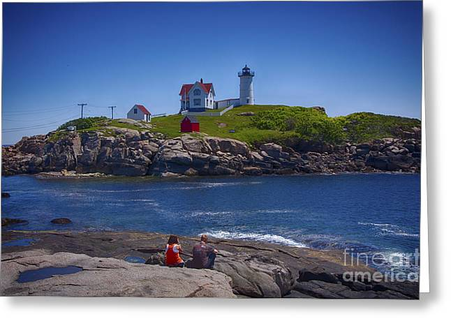 Nubble Summer Greeting Card by Rick Bragan