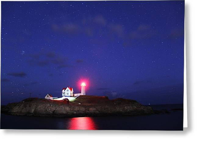 Nubble Under The Stars Greeting Card