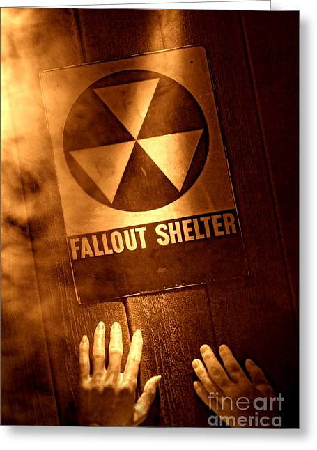 Nuclear Disaster Greeting Card by Olivier Le Queinec