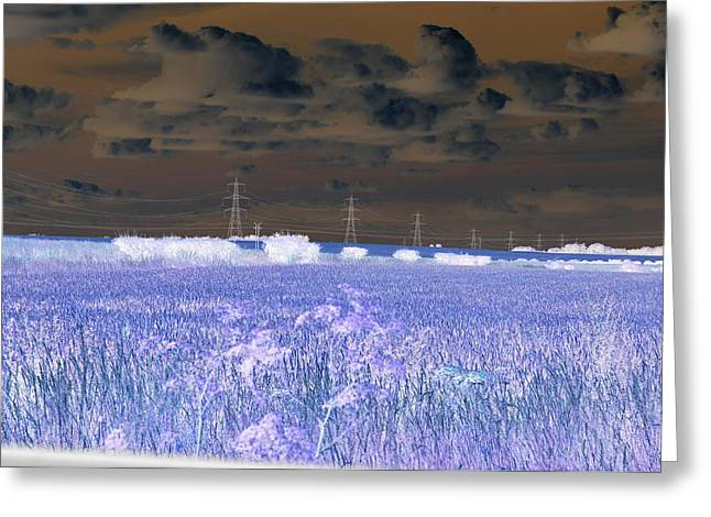 Nuclear Sky Greeting Card by David King