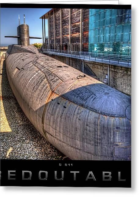 Nuclear Submarine Framed Greeting Card