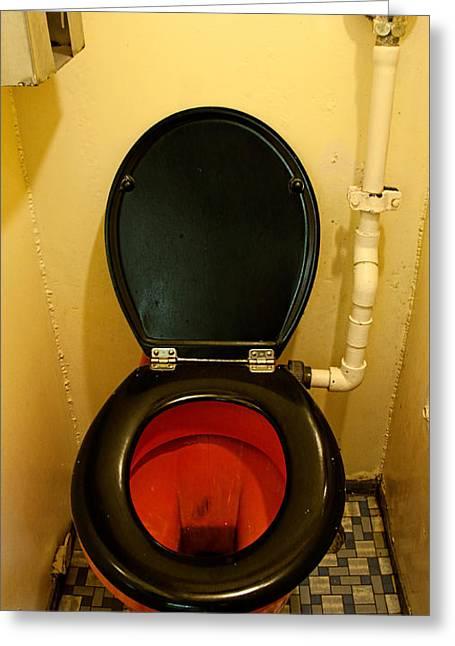 Nuclear Submarine Toilette Greeting Card
