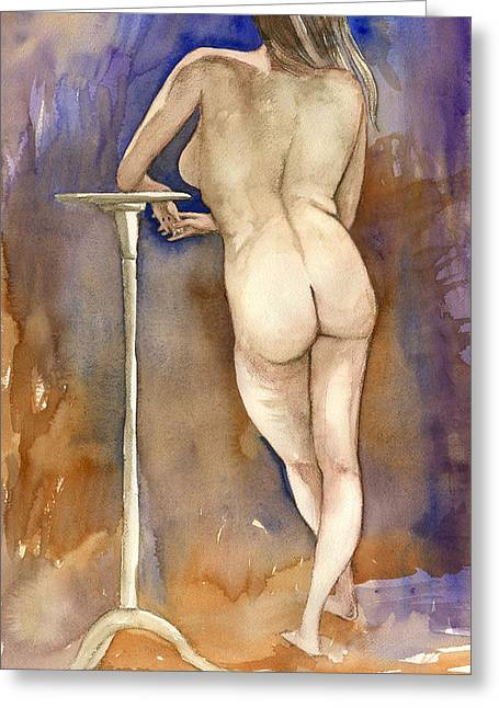 Nude Back Greeting Card