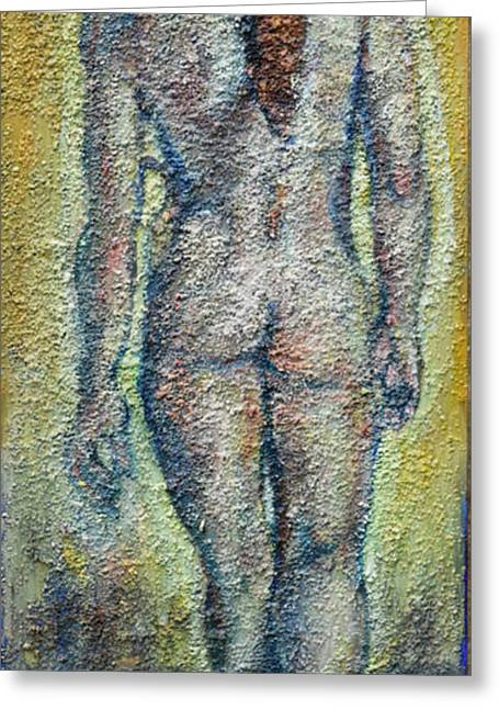 Nude Brunet Greeting Card