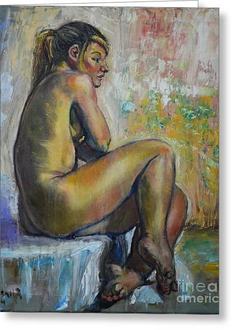 Nude Eva 1 Greeting Card