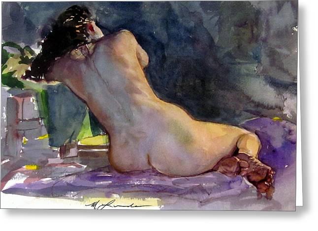 Nude Female Back Greeting Card