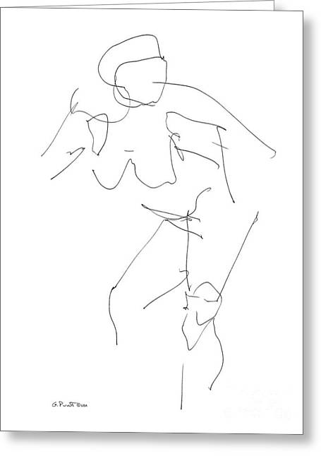 Nude Female Drawings 14 Greeting Card