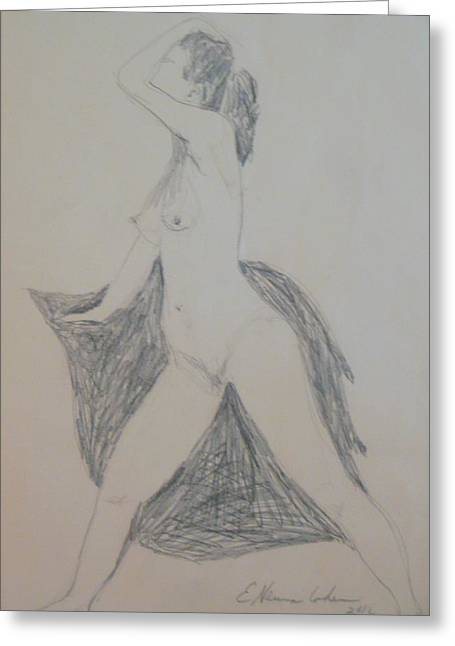 Nude In Triangle Greeting Card