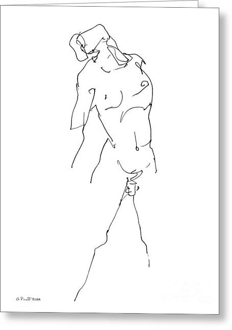 Nude-male-drawing-11 Greeting Card