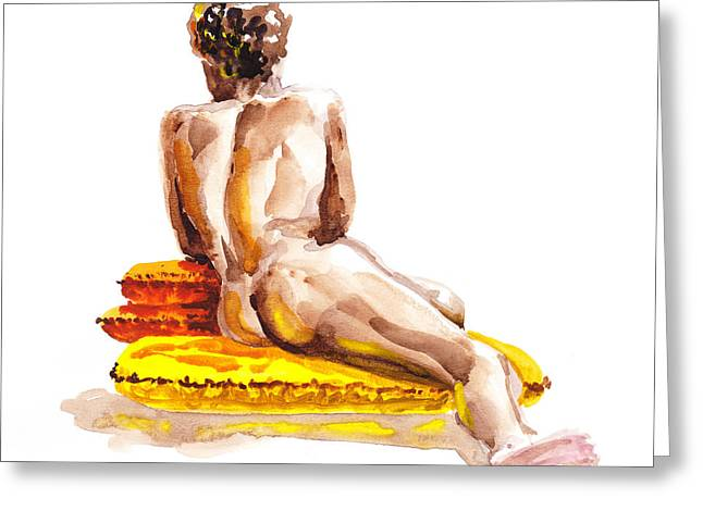 Nude Male Model Study Vi Greeting Card by Irina Sztukowski